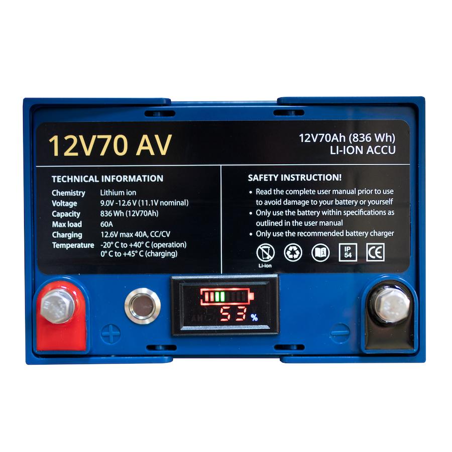 12V70AV Li-ion 836WH